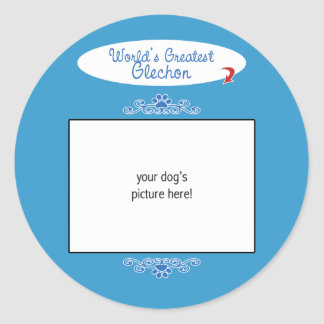 Custom Photo! Worlds Greatest Glechon Classic Round Sticker