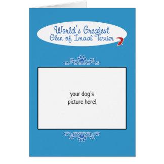 Custom Photo Worlds Greatest Glen of Imaal Terrier Card