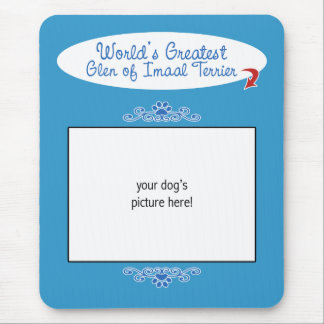 Custom Photo Worlds Greatest Glen of Imaal Terrier Mouse Pad