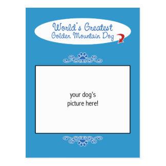 Custom Photo! Worlds Greatest Golden Mountain Dog Postcard