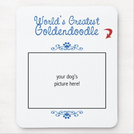 Custom Photo! Worlds Greatest Goldendoodle Mouse Pad