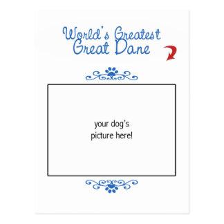 Custom Photo! Worlds Greatest Great Dane Postcard