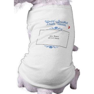 Custom Photo! Worlds Greatest Irish Terrier Pet Tee Shirt