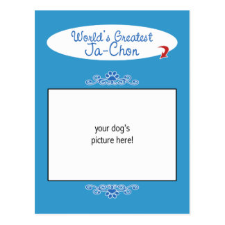 Custom Photo! Worlds Greatest Ja-Chon Postcard
