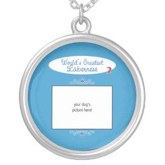 Custom Photo! Worlds Greatest Labernese Round Pendant Necklace