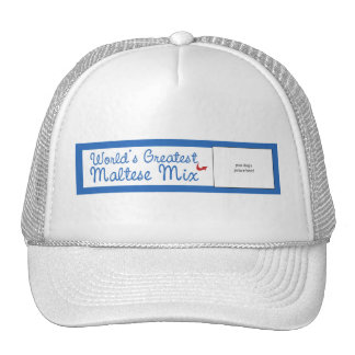 Custom Photo! Worlds Greatest Maltese Mix Trucker Hat