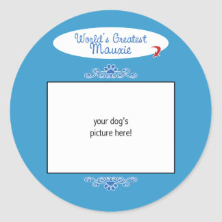 Custom Photo! Worlds Greatest Mauxie Classic Round Sticker