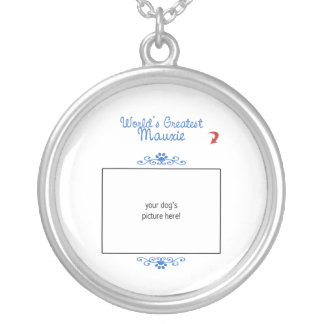 Custom Photo! Worlds Greatest Mauxie Round Pendant Necklace
