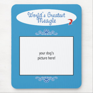 Custom Photo! Worlds Greatest Meagle Mouse Pad