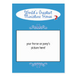 Custom Photo! Worlds Greatest Miniature Horse Post Cards
