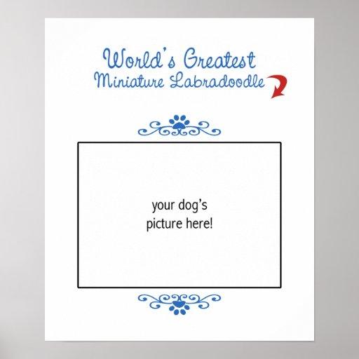 Custom Photo Worlds Greatest Miniature Labradoodle Poster