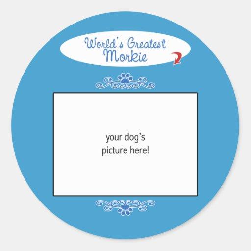 Custom Photo! Worlds Greatest Morkie Stickers