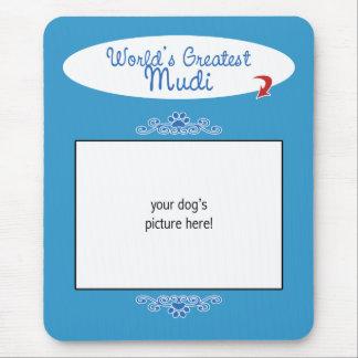 Custom Photo! Worlds Greatest Mudi Mouse Pad