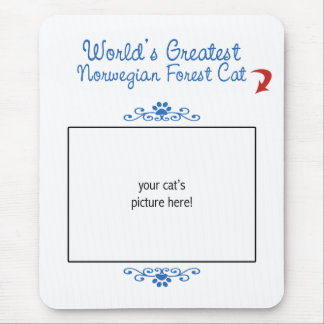 Custom Photo! Worlds Greatest Norwegian Forest Cat Mouse Pad