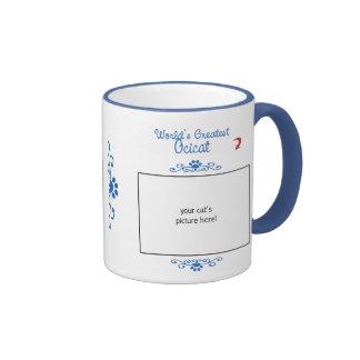 Custom Photo! Worlds Greatest Ocicat Coffee Mugs