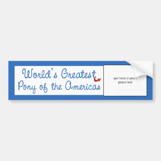 Custom Photo! Worlds Greatest Pony of the Americas Bumper Sticker