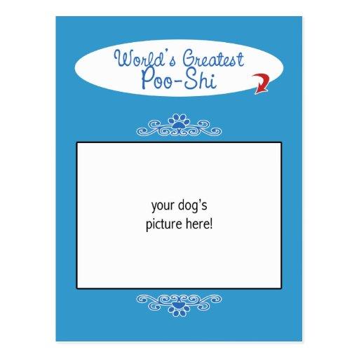 Custom Photo! Worlds Greatest Poo-Shi Postcard