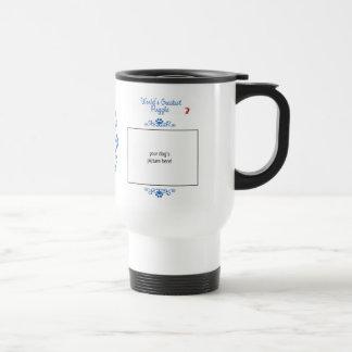 Custom Photo! Worlds Greatest Puggle Travel Mug
