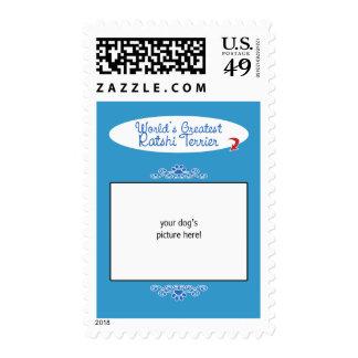 Custom Photo! Worlds Greatest Ratshi Terrier Postage Stamp