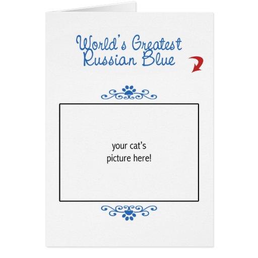 Custom Photo! Worlds Greatest Russian Blue Cards