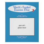 Custom Photo! Worlds Greatest Russian Blue Poster