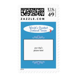 Custom Photo! Worlds Greatest Scoland Terrier Postage Stamp