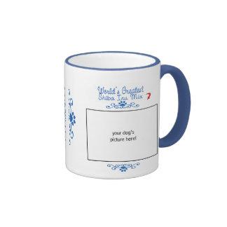 Custom Photo! Worlds Greatest Shiba Inu Mix Ringer Mug