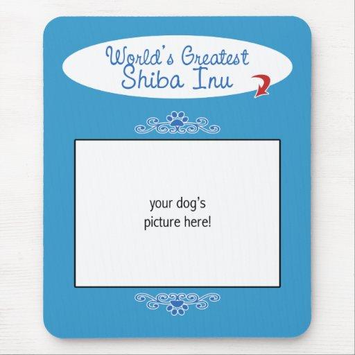 Custom Photo! Worlds Greatest Shiba Inu Mousepad