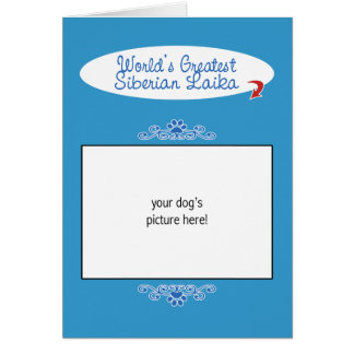 Custom Photo! Worlds Greatest Siberian Laika Greeting Card