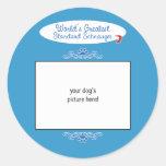 Custom Photo! Worlds Greatest Standard Schnauzer Round Stickers