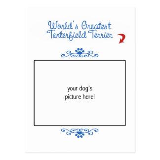 Custom Photo! Worlds Greatest Tenterfield Terrier Postcard
