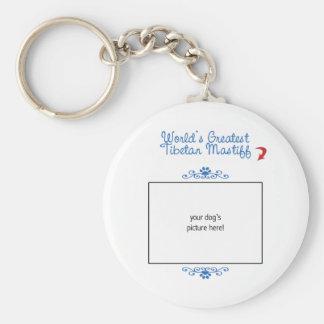 Custom Photo! Worlds Greatest Tibetan Mastiff Basic Round Button Keychain