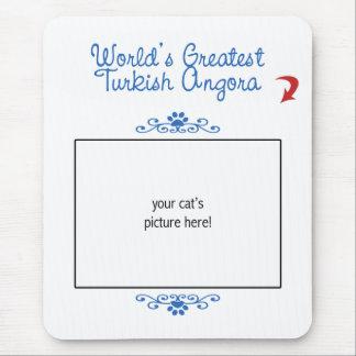 Custom Photo! Worlds Greatest Turkish Angora Mouse Pad