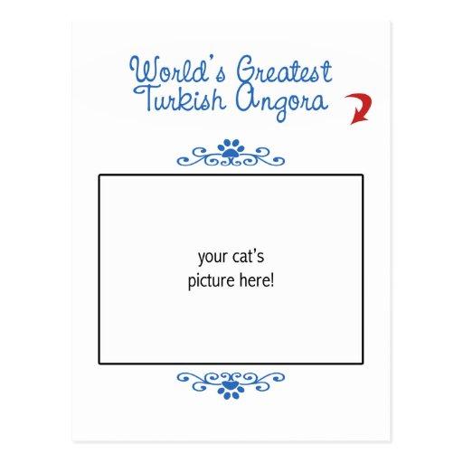 Custom Photo! Worlds Greatest Turkish Angora Postcard