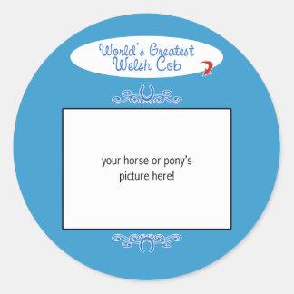 Custom Photo! Worlds Greatest Welsh Cob Stickers