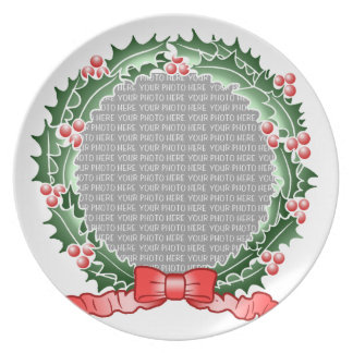 Custom Photo Wreath Plate