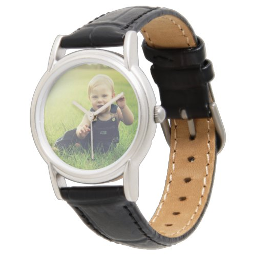 Custom Photo Wrist Watch Without Numbers