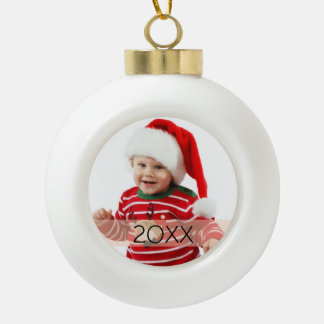 Custom Photo Year Ornament