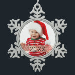 """Custom Photo Year Ornament<br><div class=""""desc"""">Celebrate this holiday season with a personalized photo ornament.</div>"""