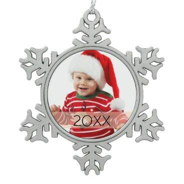 Christmas Themed Custom Photo Year Ornament