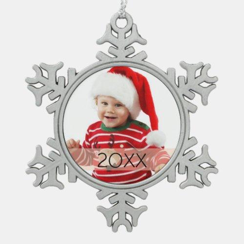Custom Photo Year Ornament