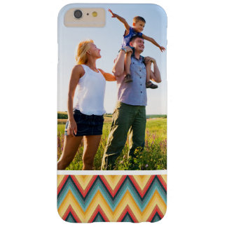Custom Photo Zig Zag Striped Background 2 Barely There iPhone 6 Plus Case