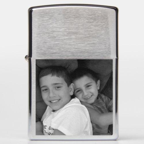 Custom Photo ZIPPO Chrome Pocket Lighter