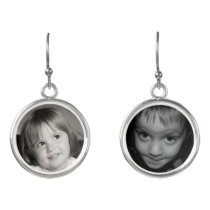 Custom Photograph Drop Earrings with Your Images