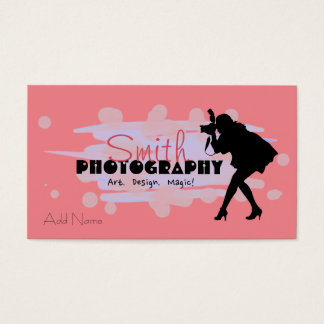 Custom Photography Design Business Cards