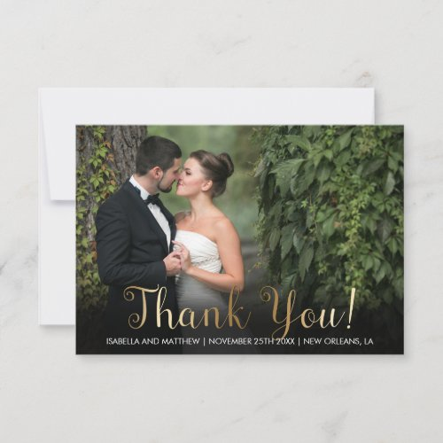 Custom Photography Templates  Bronze Thank You