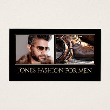 Professional Business Custom Photos Mens Fashion Retail Business Card