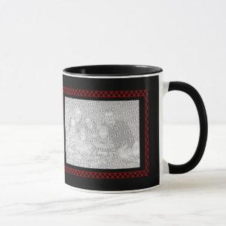 Custom Photos | Red Black Checkerboard Mug