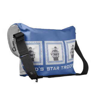 CUSTOM PHOTOS, TEXT & COLOR messenger bag