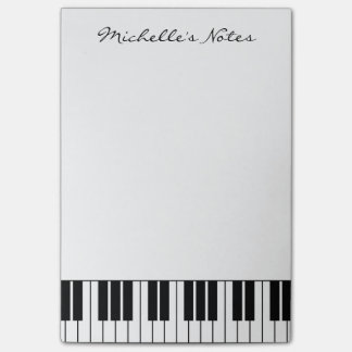 Custom piano keys sticky notes for pianist
